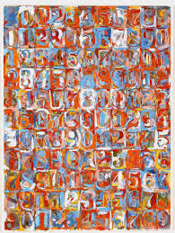 artwork numbers in colour by jasper johns