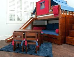 bunk bed with slide and tent. Decorating Stunning Boys Bed With Slide 6 Add A To Your High Bunk The Poof Maxtrix And Tent I