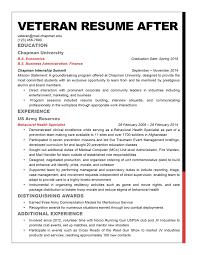 Veteran Resume Sample Veteran Resume Makeover How To Adapt The