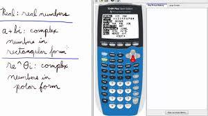 Mode 7 Real A Bi Re Theta I Ti 84 Calculator Mode