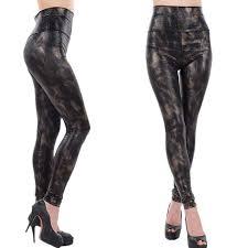 china skinny leopard print yoga leggings high waisted faux leather leggings for girls supplier