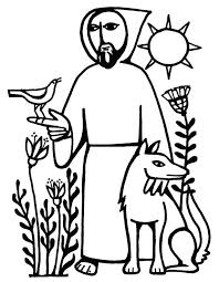 St Francis Of Assisi Coloring Pages Sugarbucketinkcom