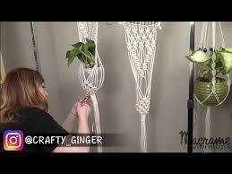 macrame plant hanger for beginners diy
