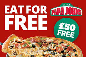 receive 50 free to be a secret diner at papa john s