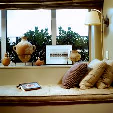 Modern Accessories For Living Room Fabulous Windows Seats Idea For Living Room Decorating With Cream