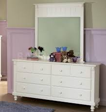 white drawer with mirror. image of: nice white dresser with mirror drawer