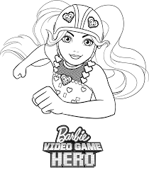 Small Picture Barbie Video Game Hero Coloring Pages GetColoringPagescom