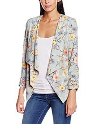 Patterned Blazer Womens Extraordinary New Look Women's Leah Floral Waterfall Jacket Green Green
