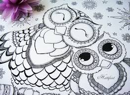Crafty Owl Coloring Pages Printable Family Love Page Hattifant Adult