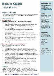 Casting Director Resume Artistic Director Resume Samples Qwikresume