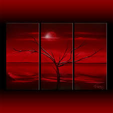 red modern abstract art multiple 3 canvas set dapore s modern abstract art gallery contemporary artist original paintings title red sky at night sunset