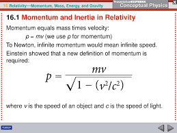Time Vs Speed Of Light Ppt As An Object Approaches The Speed Of Light Its
