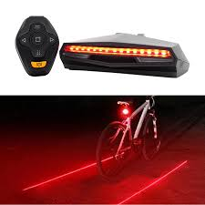 Ems Bicycle Lights 2019 Laser Tail Light Bicycle Wireless Remote Control Bike Rear Led Taillight Accessories Cycling Safety Steering Warning Light Back Lamp From