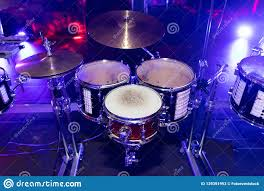 Light Up Drum Drums Close Up At The Disco Club Stock Image Image Of
