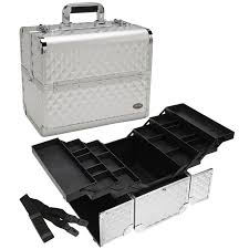 pro silver makeup case w trays