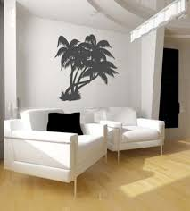 Living Room Accessories Palm Wall Decor For Tropical Themed Living Room Ideas With White