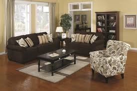 Living Room Sets With Accent Chairs Coaster Rosalie 902082 Brown Fabric Accent Chair Steal A Sofa