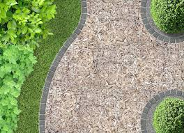 mulch garden path ideas image