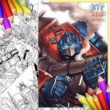 Tranh tô màu Robot Transformers TTM-0004