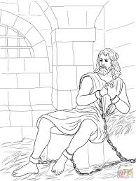 Small Picture John the Baptist in Prison coloring page Free Printable Coloring