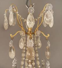 a lovely late 19th century gilt bronze and rock crystal chandelier attributed to gagneau frères