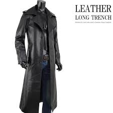 leather coat long men long coat trench coat leather coat fake leather synthetic leather black black