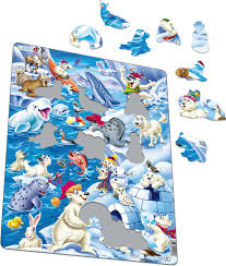 US28 - Playful <b>Cartoon Animals</b> in the Arctic :: Motif :: Puzzles ...