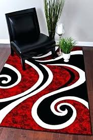 red black swirl white area rug carpet modern abstract rugs contemporary furniture of america