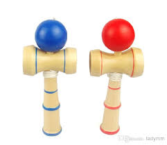 Wooden Ball And Cup Game Simple 32323232cm Kendama Cupandball Game Kendama Japanese Toy Wooden Toy