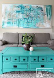 blue teal turquoise silver calming and soothing colors for living room wall another close up of my large canvas wall art