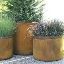 large outside planters outdoor planter steel cor ten plastic big lots storage containers