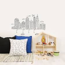 big city 1 skysers wall stickers