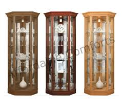 Living Room Cabinets With Glass Doors Home Corner Glass Display Cabinet Light Oak Dark Oak Mahogany