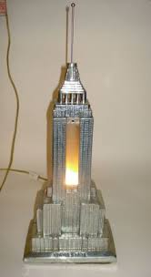 ART DECO EMPIRE STATE BUILDING LAMP by FRANKART