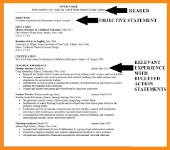 Example Objective Statements For Resumes. examples of resumes ...
