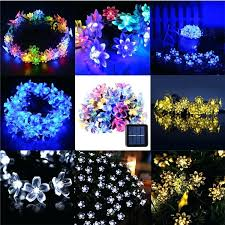solar powered outdoor string lights led blossom flower solar powered garden fairy string lights solar powered