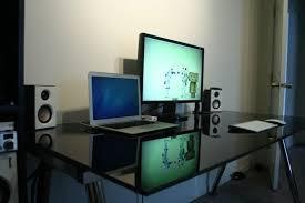 black glass ikea galant desk