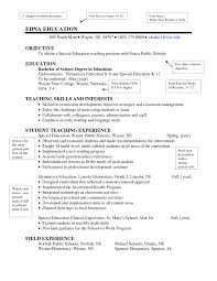 Resume Sample Special Education Teacher Best Captivating New Teacher