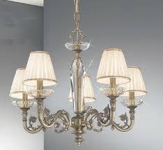 kolarz contarini 5 light antique brass chandelier with shades intended for brass chandelier lighting