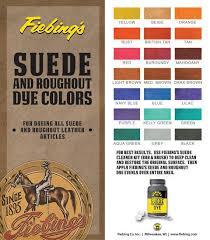 Fiebings Suede Dye Color Chart Suede And Roughout Dye Fiebings 4oz 118ml In 21 Colors