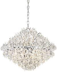modern silver crystal chandelier