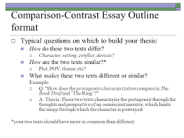 compare and contrast essay details  pages no more than  4 comparison contrast essay outline format
