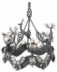 reindeer wrought iron chandelier
