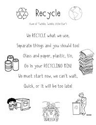 Recycle Poem Super Cute For Preschool