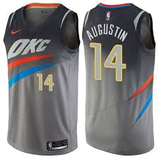 14 Augustin City Basketball D Youth Sale Edition2061931 Oklahoma Gray Jersey Swingman j Thunder
