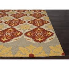 picture of jaipur barcelona tribal pattern polypropylene red yellow indoor outdoor rug ba46