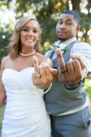 Ring Fingers Flipping Off Wedding Photo By Ps Photography