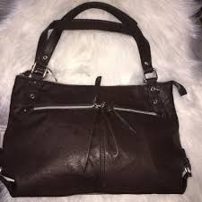 details about nwot relic faux leather purse bag brown silver pockets