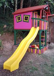 Buntes Spielhaus Aus Holz Unser Stelzenhaus Justin Fun Alles Schief