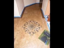 painting a cement floorDIY Paint with Concrete Stain budget friendly beautiful floors